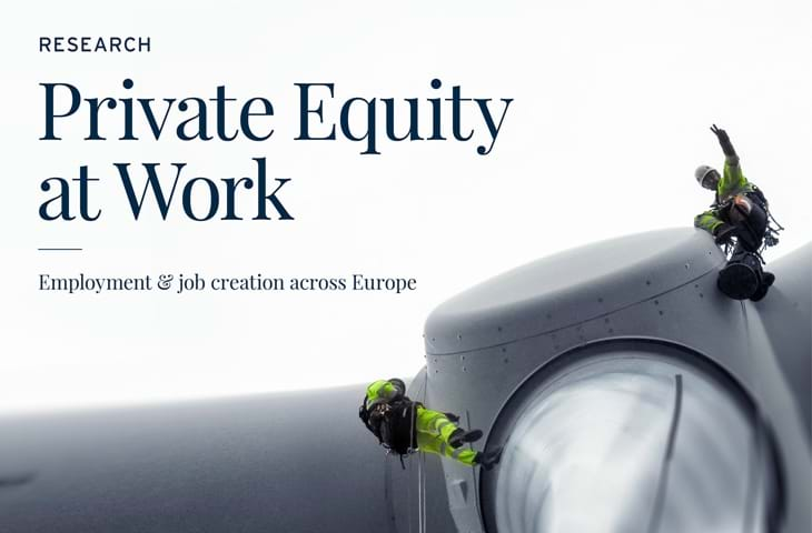Supporting Europe's jobs - Private Equity at Work research report Logo